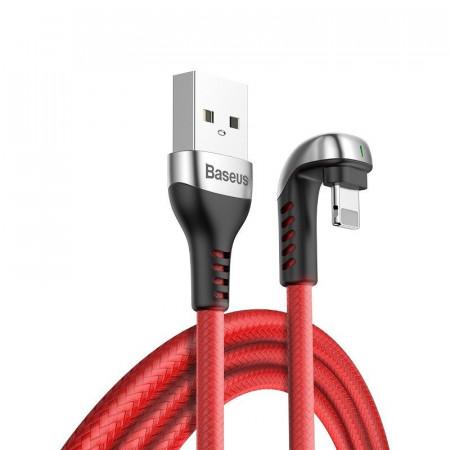 Cablu 90 grade Lightning Baseus U-shaped 1m 2.4A (rosu)