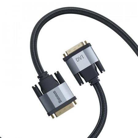 Cablu DVI Baseus Enjoyment Series, bidirectinal, 2K, 2m (gri)