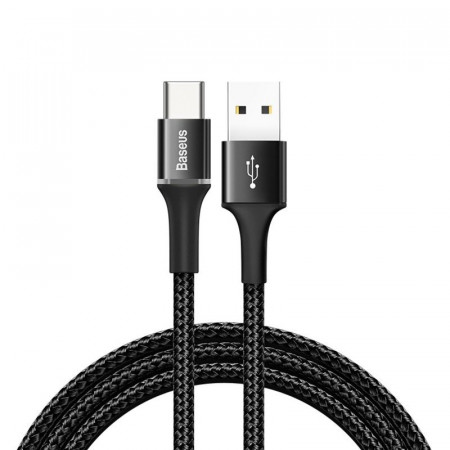 Cablu USB-C cu iluminare LED Baseus Halo 3A 1m (negru)