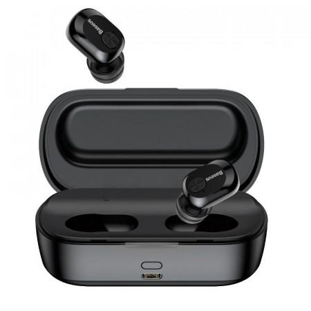 Casti wireless Baseus Encok W01 TWS Bluetooth 5.0 (negru)
