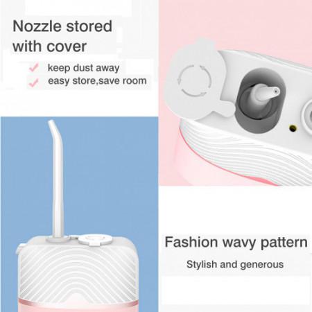 Dus bucal portabil Nicefeel roz, ultra compact