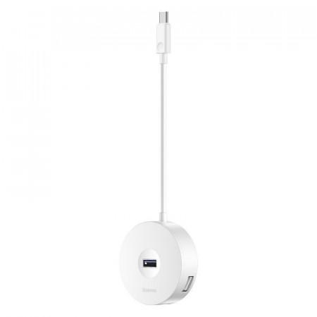Hub 4in1 USB-C la USB 3.0 + 3x USB 2.0 Baseus 15cm (alb)