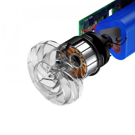 Aspirator auto fara fir Baseus Capsule 65W (argintiu)