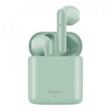 Casti wireless Baseus Encok W09 TWS Bluetooth 5.0 (verde)