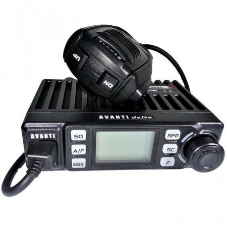 Promotie statie radio CB Avanti Delta + antena CB Avanti Cento + baza magnetica 145PL