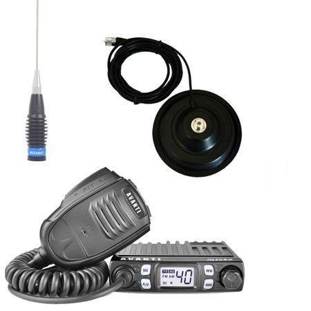 Promotie statie radio CB Avanti Micro + antena CB Megawat ML70 + baza magnetica 145PL