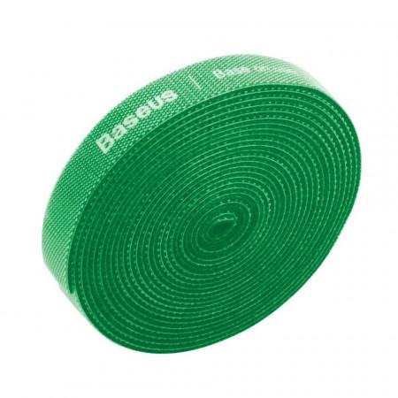 Organizator cabluri Baseus Rainbow Circle Velcro Straps 3m (verde)