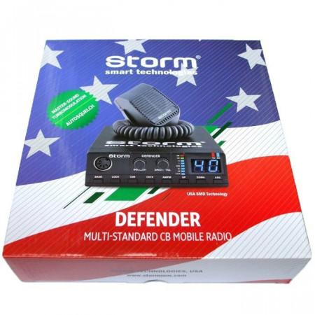 Promotie statie radio CB Storm Defender + antena CB Storm ML 145 Black + baza magnetica