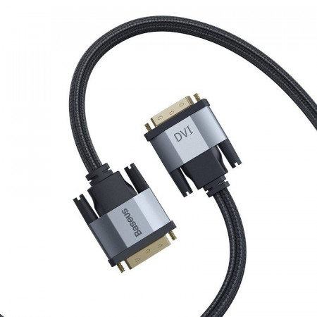 Cablu DVI Baseus Enjoyment Series, bidirectinal, 2K, 3m (gri)