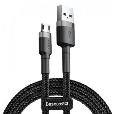 Cablu Micro USB Baseus Cafule 2.4A 1m (gri-negru)