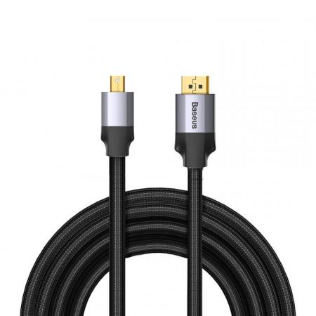 Cablu Mini Display Port la Display Port Baseus Enjoyment Series, 4K, 3m (gri)