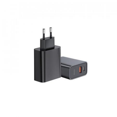Incarcator retea Baseus Quick Charger PD + QC 3.0 30W (negru)