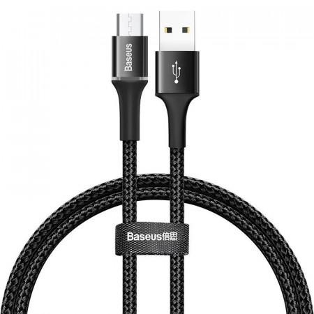 Cablu micro USB cu iluminare LED Baseus Halo 3A 0.5m (negru)