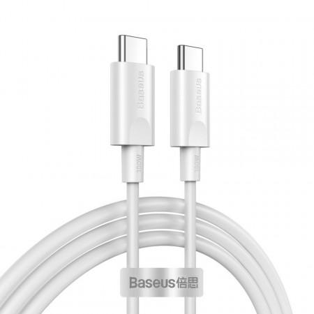 Cablu USB-C la USB-C Baseus Xiaobai QC 3.0, PD 2.0, 100W, 5A, 1,5m (alb)