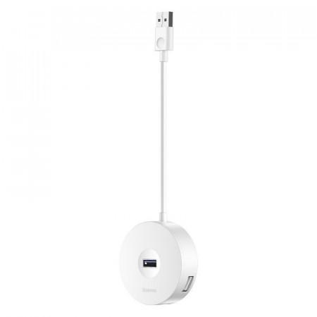 Hub 4in1 USB la USB 3.0 + 3x USB 2.0 Baseus 15cm (alb)