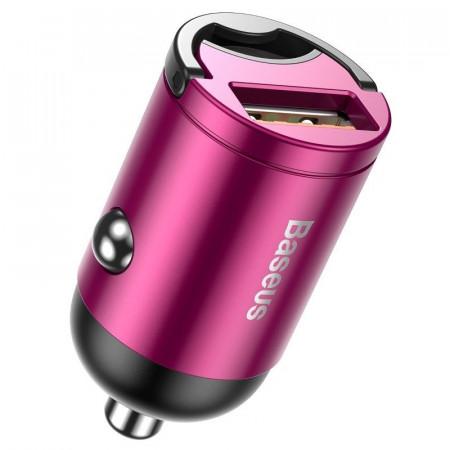 Mini incarcator auto Baseus Tiny Star, USB, QC 3.0, 30W (roz)