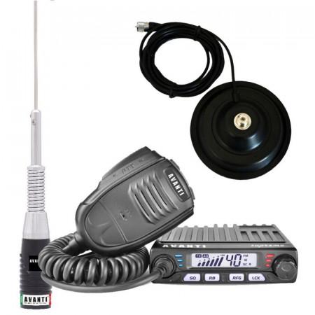 Promotie statie radio CB Avanti Supremo + antena CB Avanti Hermes + baza magnetica 145PL
