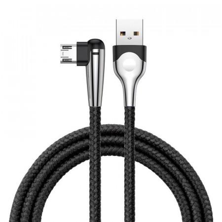 Cablu 90 grade micro USB Baseus Sharp Bird 1.5A 2m (negru)