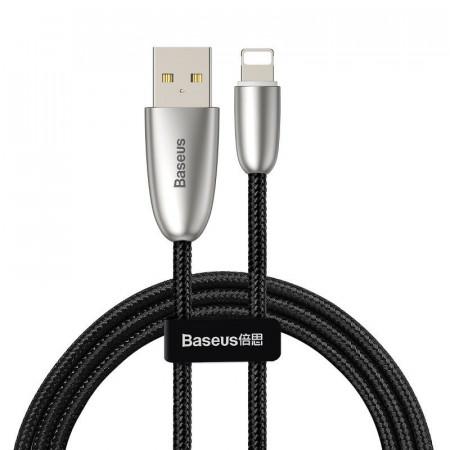 Cablu incarcare USB Lightning Baseus Torch cu lumina 2.4A 1m (negru)