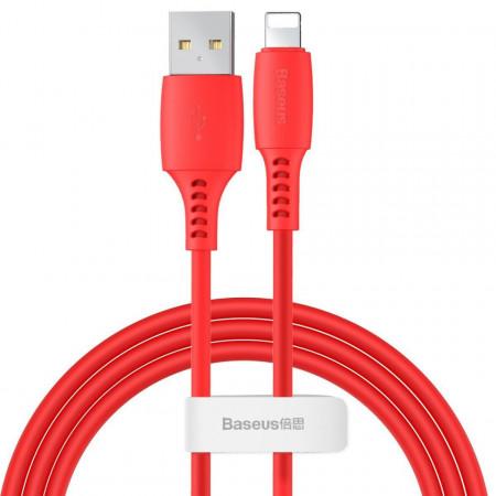 Cablu Lightning USB Baseus Colourful 1.2m 2.4A (rosu)