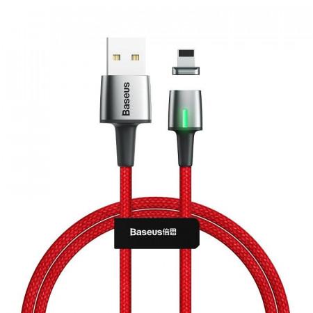 Cablu magnetic Lightning Baseus Zinc 2.4A 1m (rosu)