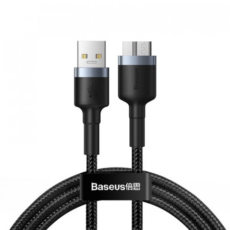 Cablu USB 3.0 la micro USB 3.0 Baseus Cafule, 2A, 1m (negru-gri)