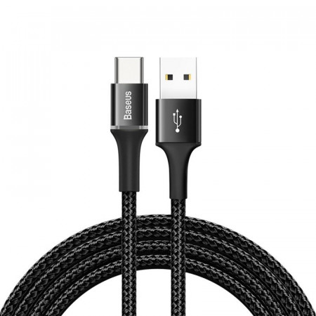 Cablu USB-C cu iluminare LED Baseus Halo 2A 2m (negru)