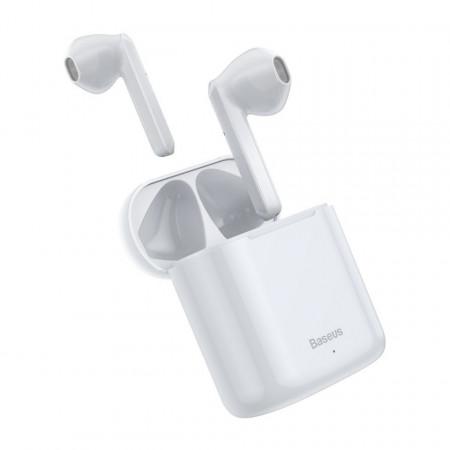 Casti wireless Baseus Encok W09 TWS Bluetooth 5.0 (alb)