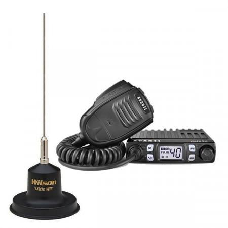 Promotie statie radio CB Avanti Micro + antena CB Wilson Little Wil