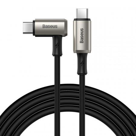 Cablu 90 grade USB-C 3.1 Baseus Hammer, 100W, PD, 4K 1.5m (negru-gri)