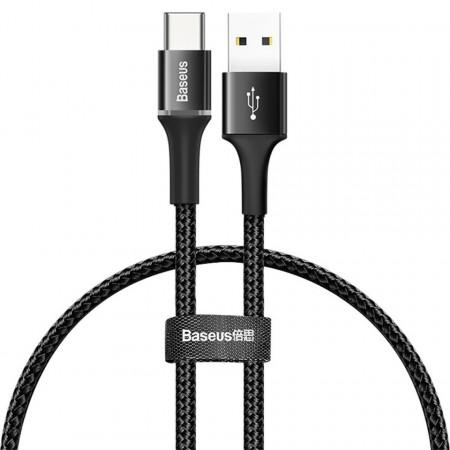 Cablu USB-C cu iluminare LED Baseus Halo 0,25m 3A (negru)