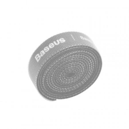 Organizator cabluri Baseus Colourful Circle Velcro Straps 1m (gri)