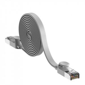 Cablu Ethernet plat Baseus High Speed, Ethernet RJ45, Gigabit, Cat.6, 8m (gri)