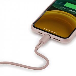 Cablu Lightning USB Baseus Colourful 1.2m 2.4A (roz)