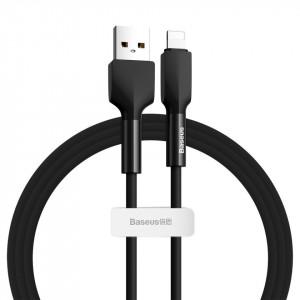 Cablu Lightning USB Baseus Silica Gel, 2.4A, 1m (negru)