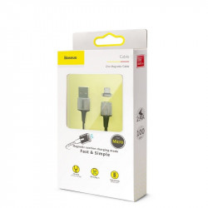 Cablu magnetic micro USB Baseus Zinc 1.5A 2m (negru)