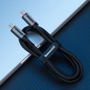Cablu USB-C 3.1 Baseus Cafule PD 10Gbps 100W 4K 1m (negru-gri)