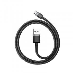 Cablu USB-C Baseus Cafule 2A 3m (gri-negru)