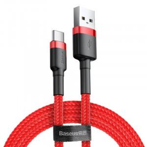 Cablu USB-C Baseus Cafule 2A 3m (rosu)