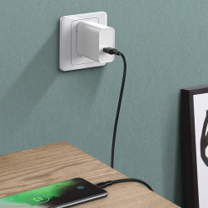 Cablu USB-C Baseus White Series, VOOC, QC, 5A, 1m (negru)