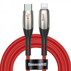 Cablu USB-C - Lightning PD Baseus Horizontal, Power Delivery, dioda LED, 2m (rosu)
