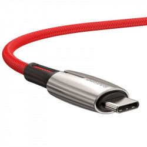 Cablu USB-C PD Baseus Water Drop Power Delivery 2.0 60W 1m (rosu)