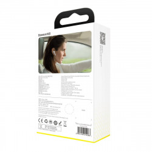 Casca Bluetooth 5.0 Baseus A05, USB (alb)