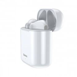Casti wireless Baseus Encok W09 TWS Bluetooth 5.0 (alb)