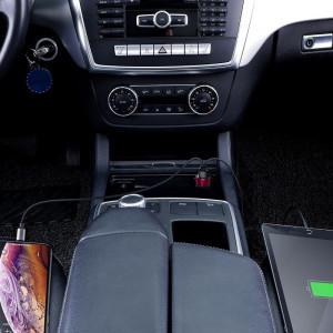 Incarcator auto Baseus Magic 2x USB QC 3.0 45W (rosu-albastru)