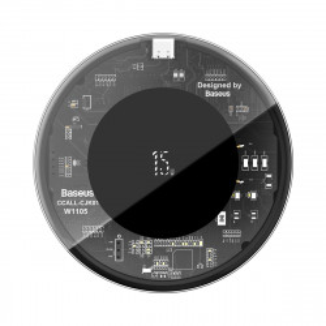 Incarcator wireless Baseus Simple, 15W (transparent)