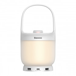 Lampa Baseus Moon-Series cu luminozitate reglabila, incarcare wireless