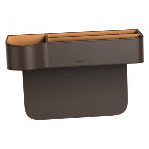 Organizator auto Baseus Elegant Car Storage Box, piele (maro)