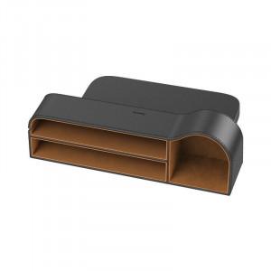 Organizator auto Baseus Elegant Car Storage Box, piele (negru)