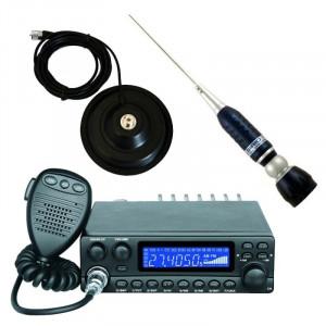 Pachet statie radio CB Avanti Kappa (versiunea PRO) cu antena radio CB Sirio Turbo si baza magnetica